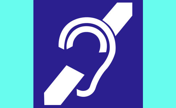 Hearing augmentation braille sign